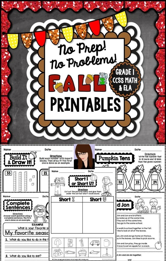 No-Prep-Fall-Printables