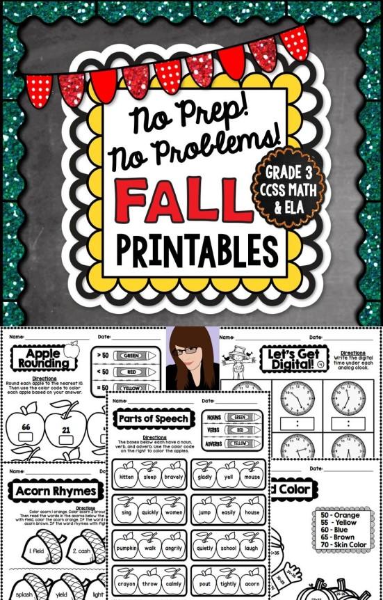 No-Prep-Printables
