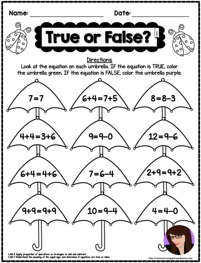 Kindergarten Math Printable Worksheets - One Less